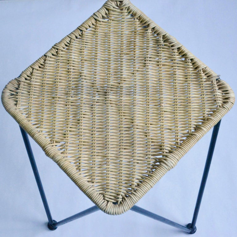 Pair of Wicker and Metal Dining Chairs, Vienna, 1950 3