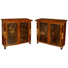 Pair of William IV Chinoiserie Side Cabinets