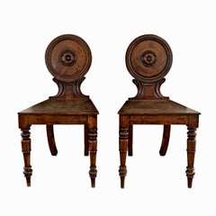 Pair of William IV Hall Chairs