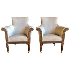 Pair of William IV Rosewood Bergeres, circa 1830