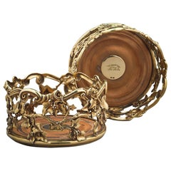 Pair of William IV Silver-Gilt Wine Coasters
