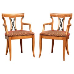 Pair Of William Switzer Neoclassical  Style Armchairs