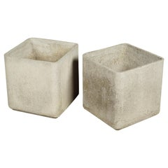 Pair of Willy Guhl Cube Planters from Switzerland, circa 1960