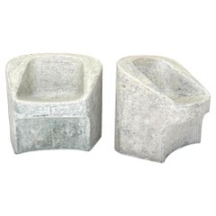 Pair of Willy Guhl Sculptural Concrete Chairs