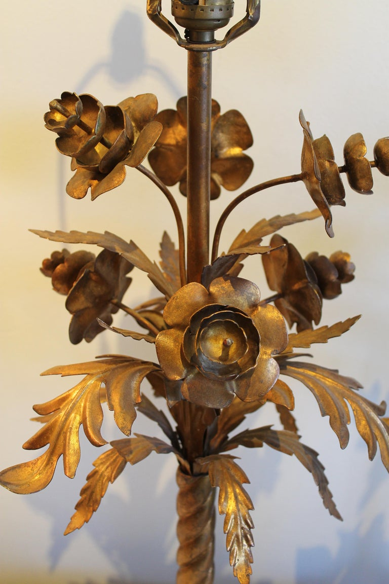 Pair of Wilshire House Italian Foliate Lamps In Good Condition For Sale In Palm Springs, CA