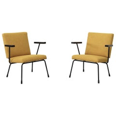 Pair of Wim Rietveld Chairs No 1401 for Gispen