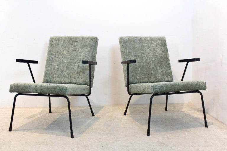 Pair of Wim Rietveld No. 1407 Lounge Chairs for Gispen 3