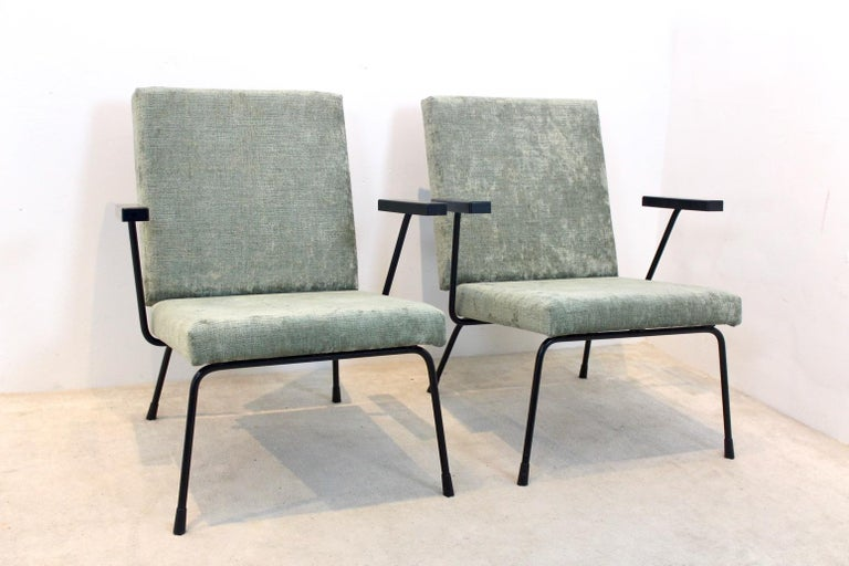 Pair of Wim Rietveld No. 1407 Lounge Chairs for Gispen 4