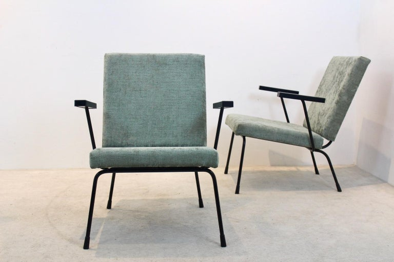 Pair of Wim Rietveld No. 1407 Lounge Chairs for Gispen In Good Condition In Voorburg, NL