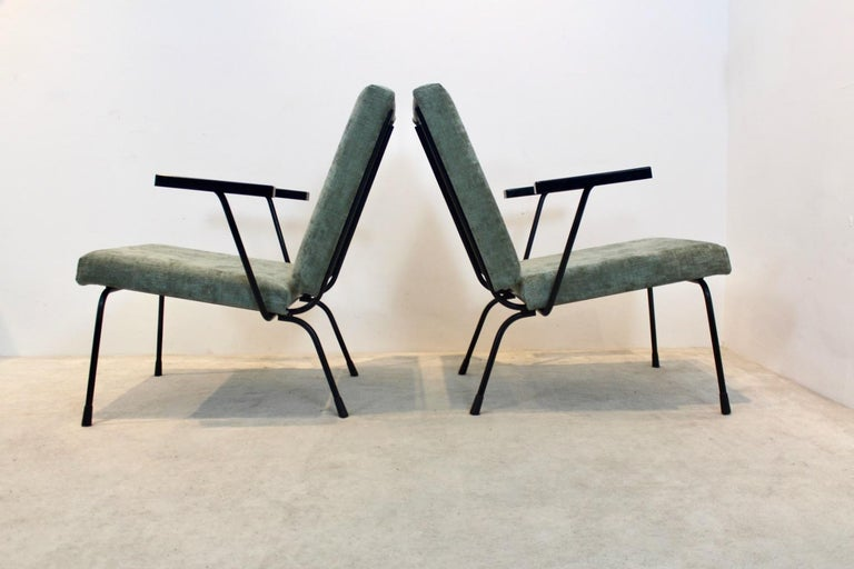 Pair of Wim Rietveld No. 1407 Lounge Chairs for Gispen 2
