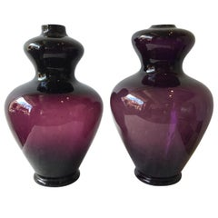 Pair of Wine Colored 1960s Murano Lamps by Balboa, 4