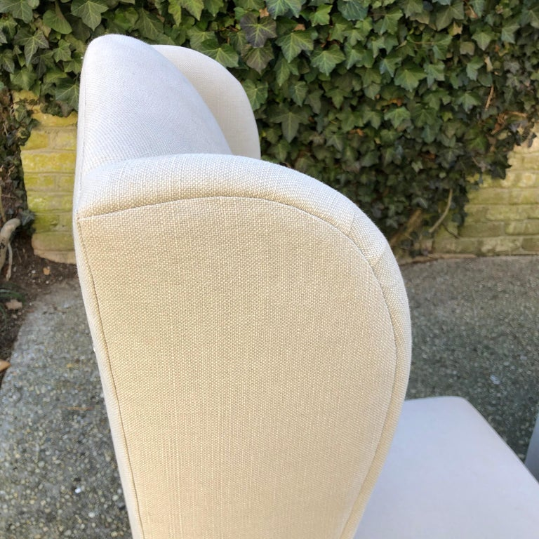 20th Century Pair of Wing Back Slipper Chairs For Sale