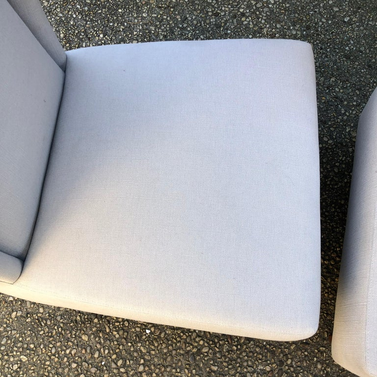 Pair of Wing Back Slipper Chairs For Sale 1