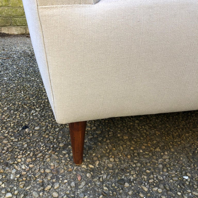 Pair of Wing Back Slipper Chairs For Sale 2
