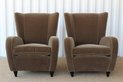 Pair of Wing Chairs by Paolo Buffa, Italy, 1940s.