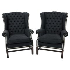 Pair of Wingback Armchairs