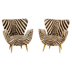 Pair of Wingback Chairs by Paolo Buffa, 1950s