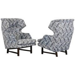 "Pair of Wingback Lounge ""Janus"" Chairs by Edward Wormley for Dunbar, 1960s"