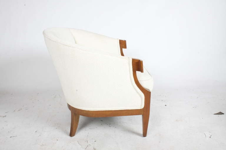 Hollywood Regency Pair of Winsor White & William Millington Occasional Chairs, circa 1940s For Sale