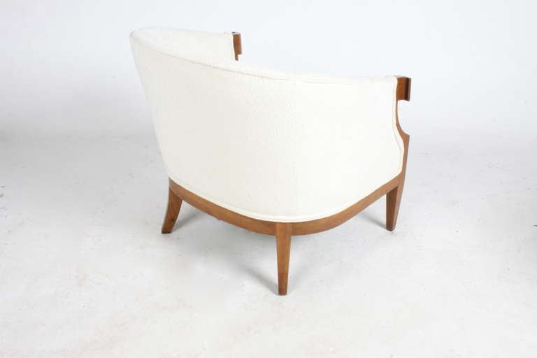 American Pair of Winsor White & William Millington Occasional Chairs, circa 1940s For Sale