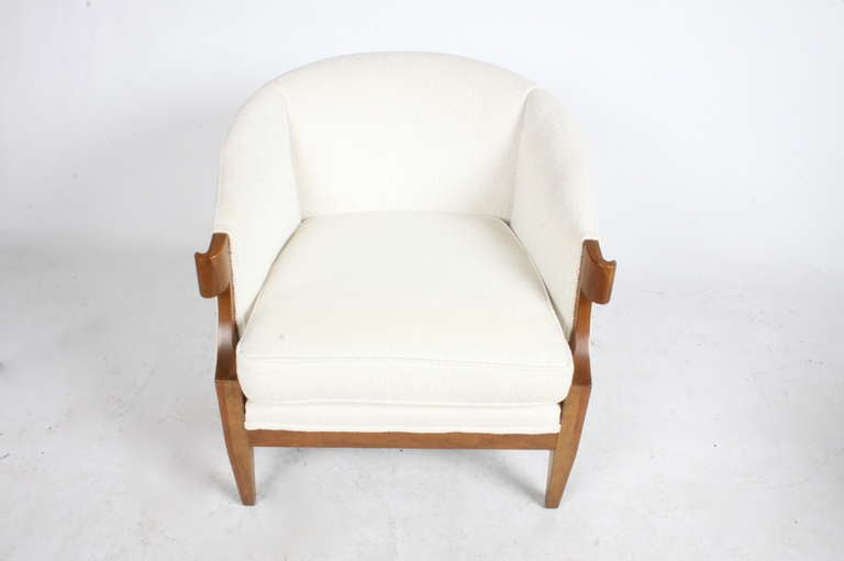 Mid-20th Century Pair of Winsor White & William Millington Occasional Chairs, circa 1940s For Sale