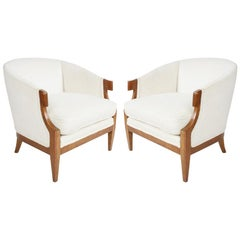 Pair of Winsor White & William Millington Occasional Chairs, circa 1940s