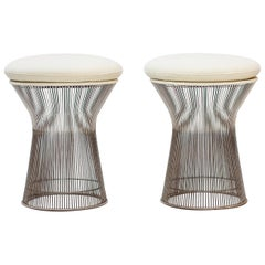 Pair of Wire Stools by Warren Platner for Knoll