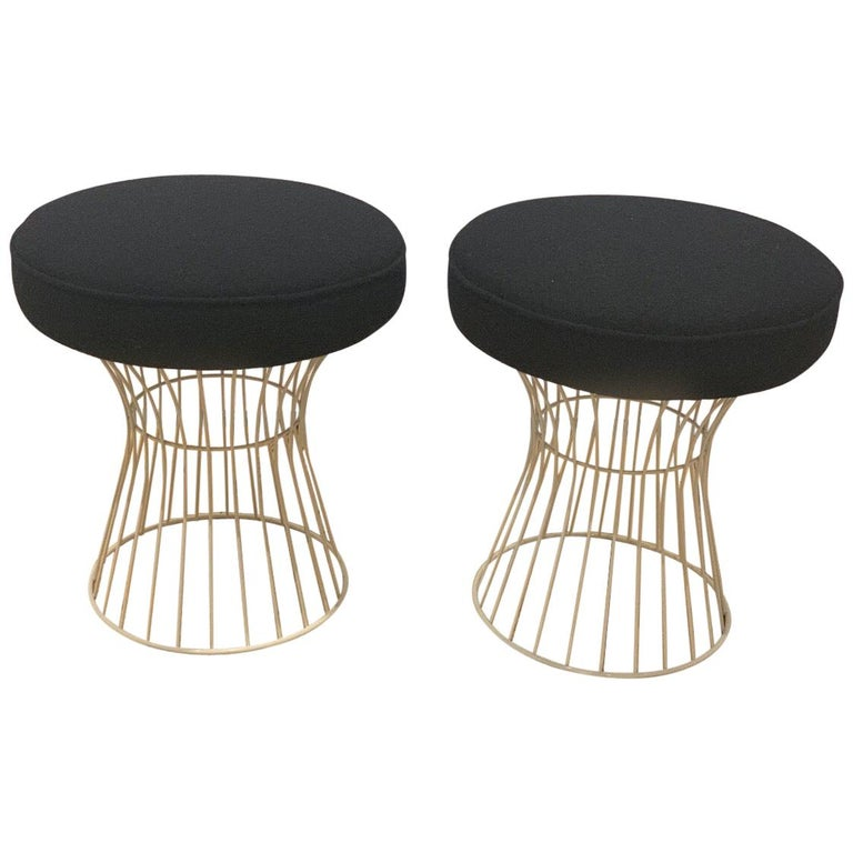 Pair of Wire Stools For Sale