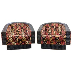 Pair of WITCO Tiki Swivel Lounge Chairs