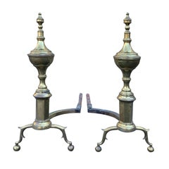 Pair of Withyham Brass Andirons, circa 1820