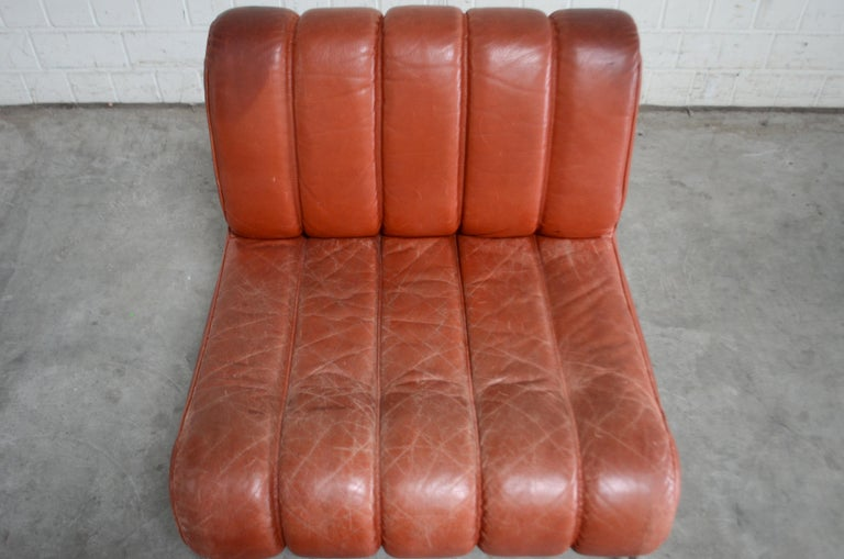 Pair of Wittmann Lounge Chair Leather Chairs Model Independence For Sale 6