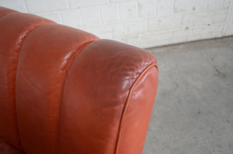 Pair of Wittmann Lounge Chair Leather Chairs Model Independence For Sale 8