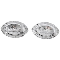 Pair of W.M.F. Silver Plate Dishes, Jugendstil Period, circa 1900