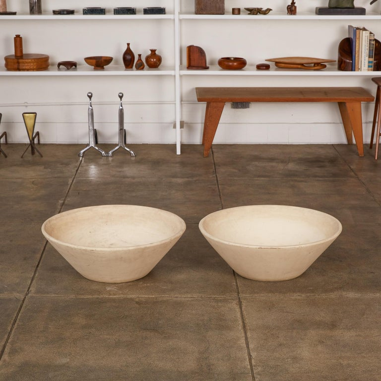 Mid-Century Modern Pair of Wok Planters by Lagardo Tackett for Architectural Pottery For Sale