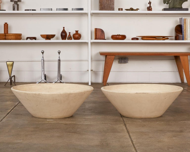 American Pair of Wok Planters by Lagardo Tackett for Architectural Pottery For Sale