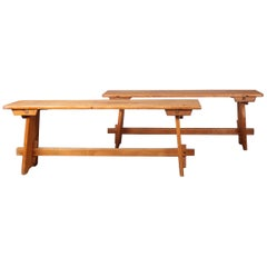 Pair of Wood Bench