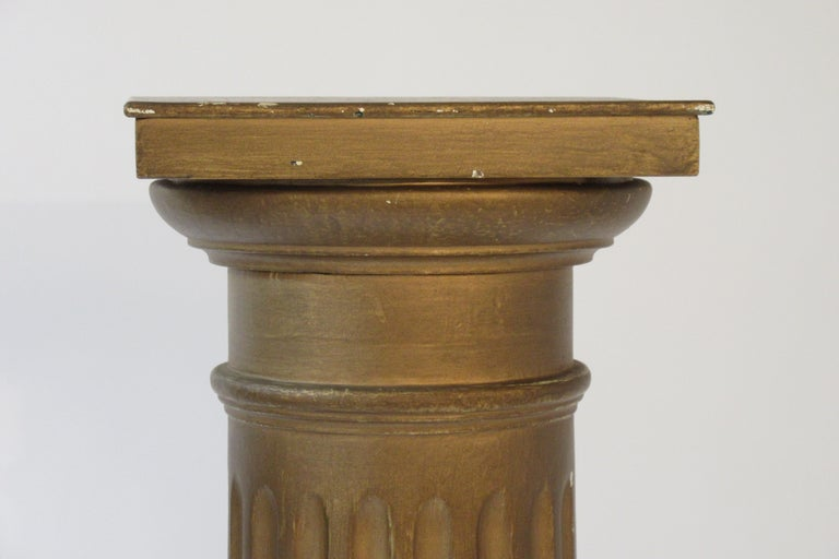 Mid-20th Century Pair of Wood Column Pedestals For Sale