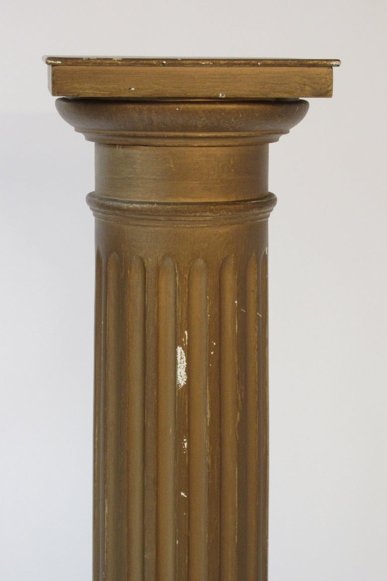 Pair of Wood Column Pedestals For Sale 1