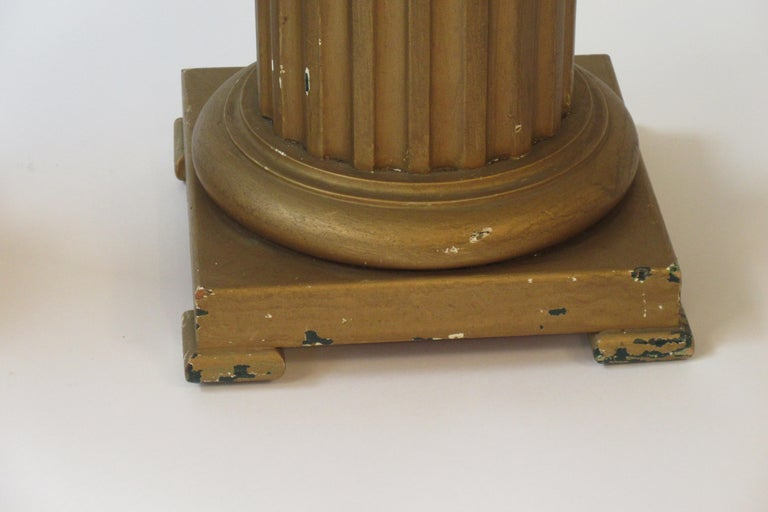 Pair of Wood Column Pedestals For Sale 3