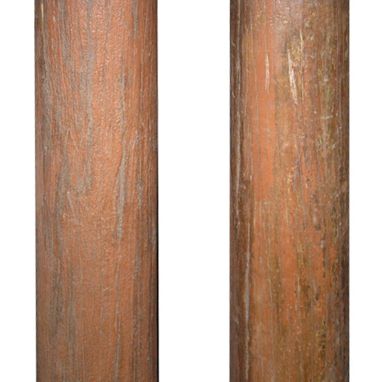 Indian Pair of Wood Columns For Sale