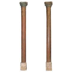 Pair of Wood Columns