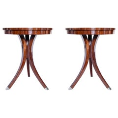 Pair of Wood Side Tables, Art Deco Period, France, circa 1940