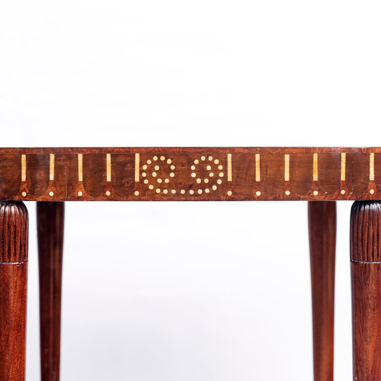 French Pair of Wood Side Tables, Art Deco Style, France, circa 1930 For Sale