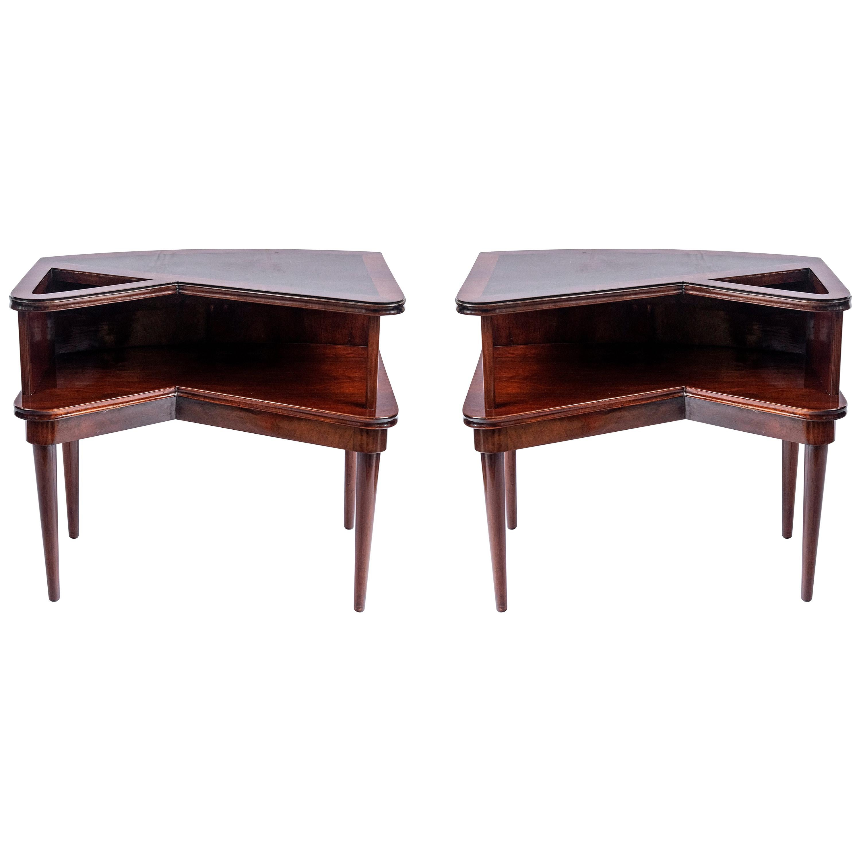 Pair of Wood Side Tables by Englander & Bonta, Argentina, 1950