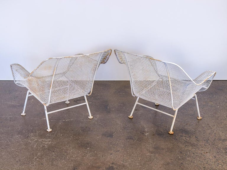 American Pair of Woodard Sculptura Garden Lounge Chairs For Sale