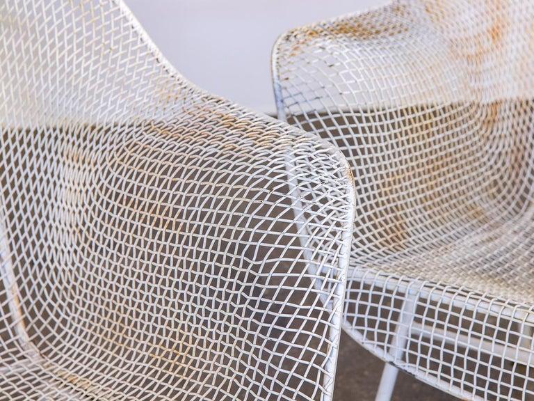 Pair of Woodard Sculptura Garden Lounge Chairs For Sale 1