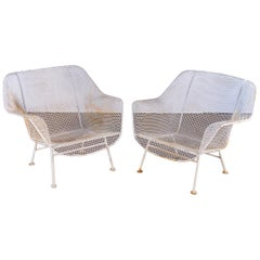 Pair of Woodard Sculptura Garden Lounge Chairs