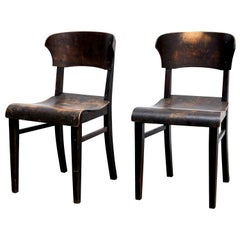 Pair of Wooden Chairs in Style of Rockhausen, circa 1925
