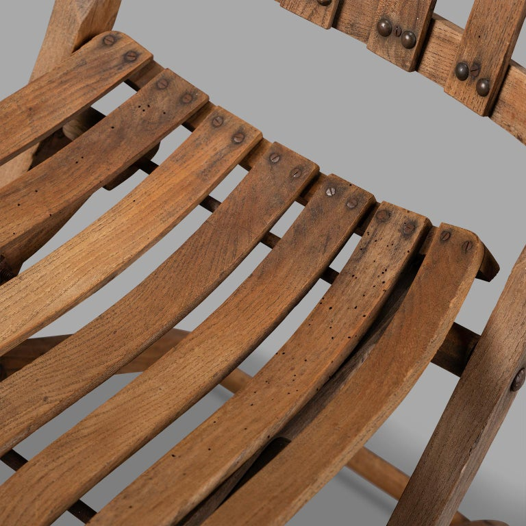 Pair of Wooden Folding Chairs, circa 1900 For Sale 3