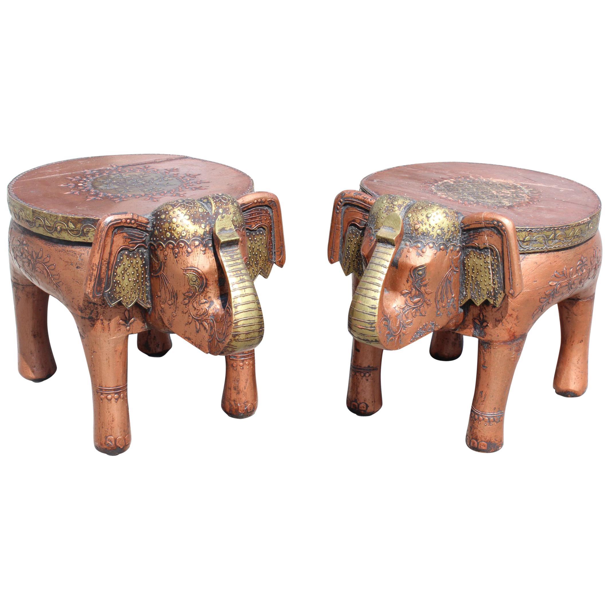 THAI HOWDAH GILT ELEPHANT SADDLE CHAIR